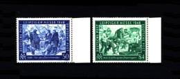 Deutschland / Germany: 'Leipziger Messe, 1948' / 'Leipzig Fair', Mi. 967-968; Yv. 55-56 ** - American,British And Russian Zone