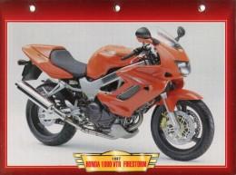 B / HONDA 1000 VTR FIRESTORM 1997 FICHE TECHNIQUE MOTO FORMAT A4  DÉTAILS CARACTÉRISTIQUES TBE - Motos