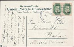 Russia Levant Holyland 1910 Picture Postcard Ropit Jerusalem Commemorative Issue To Prague (44_2710) - Levante