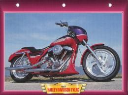 B / HARLEY DAVIDSON FXLRC / 1987  FICHE TECHNIQUE MOTO FORMAT A4  DÉTAILS CARACTÉRISTIQUES TBE - Motos