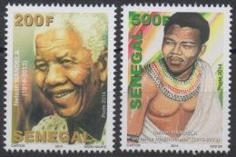 """Sénégal 2014 / 2016 Mort De Nelson Mandela Death """" Madiba """" 1918-2013 Pair / Paire MNH ** - Nobel Prize Laureates"""