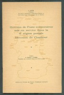 CAPON F., Bureaux De Poste Temporaires Mis En Service Dans La 6è Région Postale Direction De Charleroi, Ed.A.C.P.H.,Farc - Oblitérations