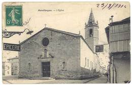 4 Cpa Marsillargues : église, Petit Temple, Monuments Aux Morts, Clocher - France