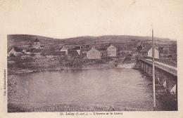 Laizy - L'Arroux Et Le Centre (pont à Droite) Circulé Sans Date, Sous Enveloppe - France