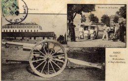 CPA     54  NANCY---QUARTIER BRICHAMBEAU---MANOEUVRE DE LA PIECE---PIECE DE 75---1906 - Nancy