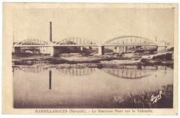 Cpa Marsillargues - Le Nouveau Pont Sur Le Vidourle - France