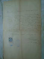 D137988.12 Old Document  Hungary   János RIHA  - Maria HUTTER Veszprém Budapest 1885 - Engagement