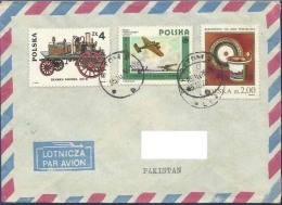 POLAND POSTAL USED AIRMAIL COVER TO PAKISTAN  AIRPLANE - Ohne Zuordnung