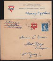 France - LaC Obl. 1920 Bordeaux Salinieres Pour St Sauveur Les Bains, Entete YMCA American Expeditionary Force - 1877-1920: Periodo Semi Moderno