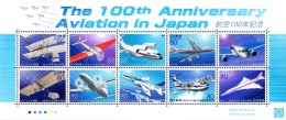 Japan - 2010 100th Anniversary Of Aviation MS (**) - Aviones