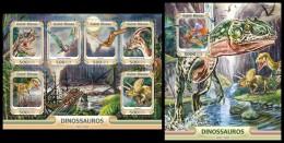 GUINEA BISSAU 2016 - Dinosaurs, M/S + S/S. Official Issue - Prehistorisch