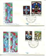 België FDC 1519/1522 - Solidariteit - 1961-70