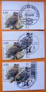 2004 HIBOU  3 Timbres  Oblitérés -1ER JOUR-CENTRE PHILATELY- PREVENTE - 1985-.. Birds (Buzin)