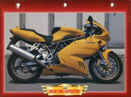 B / DUCATI 900 SUPERSPORT 1998   FICHE TECHNIQUE MOTO FORMAT A4  DÉTAILS CARACTÉRISTIQUES TBE - Motos