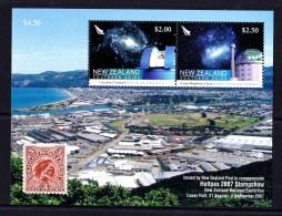New Zealand 2007 Huttpex Stamp Show Southern Skies Minisheet MNH - Ongebruikt
