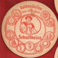 Sous-bock - Goldmedaillen Ous Oller Welt - Schultheiss - Médailles Ou Blasons - Sous-bocks
