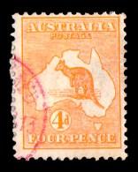 Australia 1913 Kangaroo 4d Orange 1st Wmk Used - Oblitérés