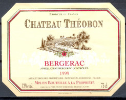 110 - Bergerac - 1999 - Château Théobon - Arnault Brouard Propriétaire Monfaucon Dordonge - Bergerac