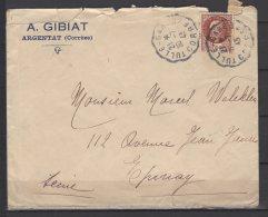 """Préposés Des Postes Aux Gares - """" Tulle - Gare """" N° 1227 Sur Lettre   - 1943 - Poststempel (Briefe)"""