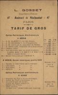 CARTES POSTALES - Publicité Pour Les Editions GOSSET - Imprimeur - Cartes Militaires - Publicités
