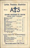 CARTES POSTALES - Publicité Pour Les Editions AS - Miss Helyett - Publicités
