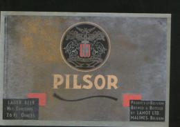 Pilsor (Lamot, Belgium), Beer Label From 60`s. - Cerveza