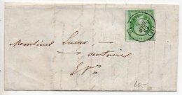 Napoléon N° 12 Seul Sur Lettre De 1862 Oblitérée D'Orléans - Timbre Peu Courant Seul - Bords Coupés - Marcophilie (Lettres)
