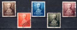 1951, Isabelle La Catholique, YT 811 - 815, Oblitéré, Lot 45511 - 1931-Heute: 2. Rep. - ... Juan Carlos I