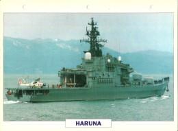 CARTE FICHE FORMAT A4 BATEAU / NAVIRE DE GUERRE LE HARUNA - Boats
