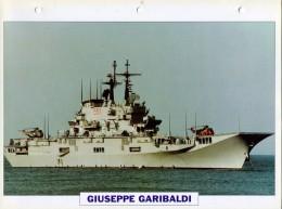 CARTE FICHE FORMAT A4 BATEAU / NAVIRE DE GUERRE LE GIUSEPPE GARIBALDI - Boats
