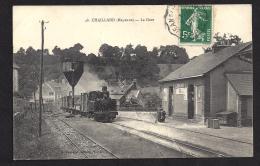 CPA 53 Chailland La Gare Et Le Train Tramway Ligne De Mayenne Saint Jean Sur Erve - Chailland