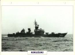 CARTE FICHE FORMAT A4 BATEAU / NAVIRE DE GUERRE LE KIKUZUKI - Boats
