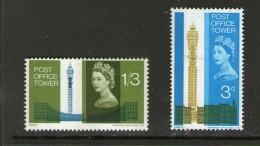 GRANDE BRETAGNE-GREAT BRITAIN 1965 TOUR DES TELECOMS   YVERT   N°415/16  NEUF MNH** - Unused Stamps
