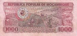 MOZAMBIQUE - BILLET DE 1000 METICAIS - 1986 - Mozambico