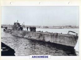 CARTE FICHE FORMAT A4 BATEAU / NAVIRE DE GUERRE LE ARCHIMEDE - Boats