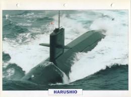 CARTE FICHE FORMAT A4 BATEAU / NAVIRE DE GUERRE LE HARUSHIO - Boats