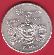 Canada - 10 Dollars Montréal Jeux Olympiques 1976 Argent - SUP - Canada