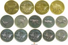 [NC] NAGORNO KARABAKH SET DI 7 MONETE CON ANIMALI DA ROTOLINO 2013 (nc1678)