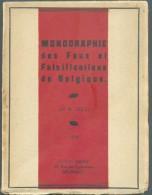 TOLLI M., Monographie Des Faux Et Falsifications Des Timbres-poste De Belgique,  Ed. GA-PHI, Bruxelles, 1938, 79 Pages, - Faux Et Reproductions