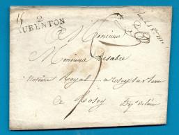 Aisne - Aubenton Pour Rozoy Sur Serre. Taxe 5 (document Pesant). 1820. Indice 10 - Marcophilie (Lettres)