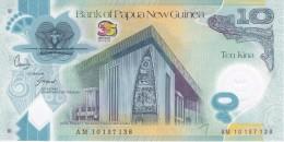 BILLETE DE PAPUA Y NUEVA GUINEA DE 10 KINA DEL AÑO 2010 CONMEMORATIVO 35 ANIVERSARIO (SIN CIRCULAR-UNCIRCULATED) - Papua Nuova Guinea