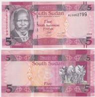 Sudan South P 6 B - 5 Pounds 2015 - UNC - Sudan Del Sud