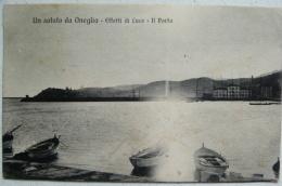 UN SALUTO DA ONEGLIA (IMPERIA) - EFFETTI DI LUCE: IL PORTO 1924 X NETTUNO - Imperia