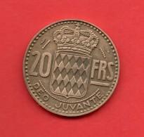 MONACO - 20 Francs  1951  KM131 - Mónaco