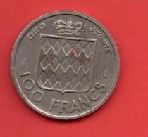 MONACO - 100 Francs  1956  KM134 - Mónaco