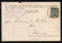 2805 - Alte Postkarte - Milspe Ennepetal Westphalie - Belgien