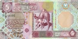 LIBYA P. 65a 5 D 2002 UNC - Libya