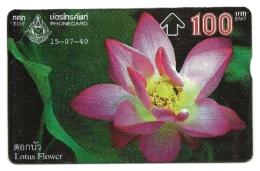 Tailandia - Tessera Telefonica Da 100 Baht T78, - Fiori