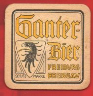 Sous-bock - Ganter-Bier - Freiburg Breisgav - Timbré Et Voyagé - Sous-bocks