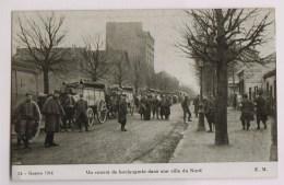 1914:  Konvooi Met Brood In Een Stad Du Nord - Guerre 1914-18